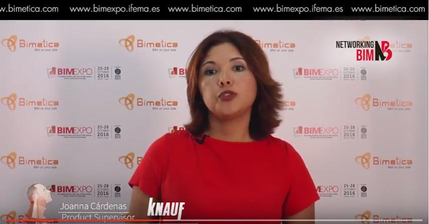 Joanna Cárdenas Presenta Knauf en BIMEXPO
