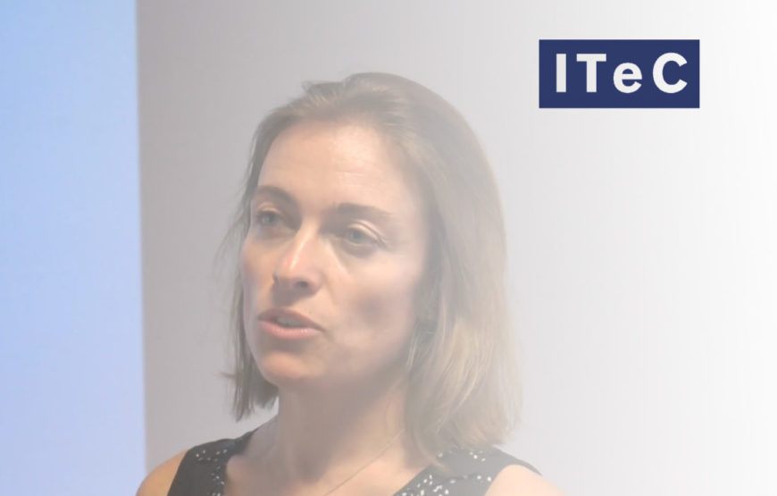 Entrevista a Mª Elena Pla del ITeC durante la presentación del Estandar eCOB en Madrid