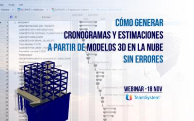 Webinar: Cómo generar cronogramas y estimaciones a partir de modelos 3D en la nube sin errores