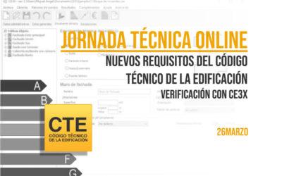 FOTO PORTADA - Jornada técnica online - Nuevos requisitos del Código Técnico de la Edificación - verificación con Ce3X
