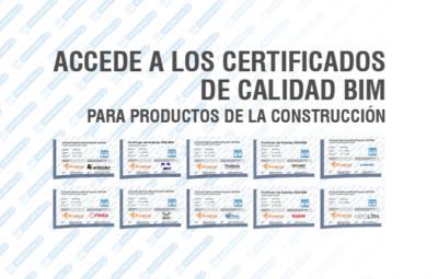 Certificados de Calidad BIM para Productos de la construcción.